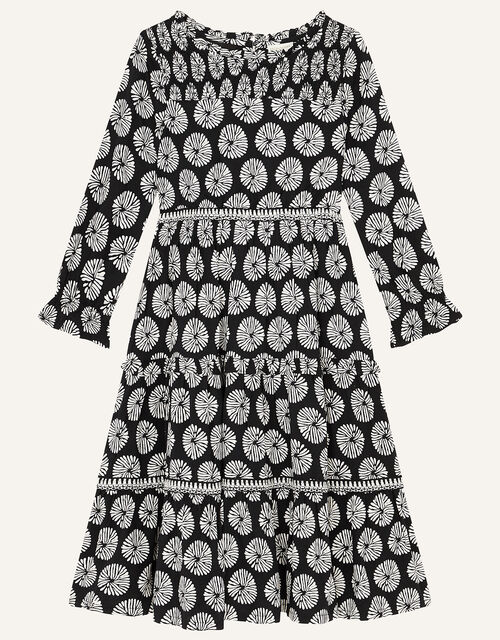 MINI ME Ella Circle Print Dress, Black (BLACK), large