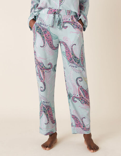 Paisley Print Pyjama Bottoms, Blue (BLUE), large