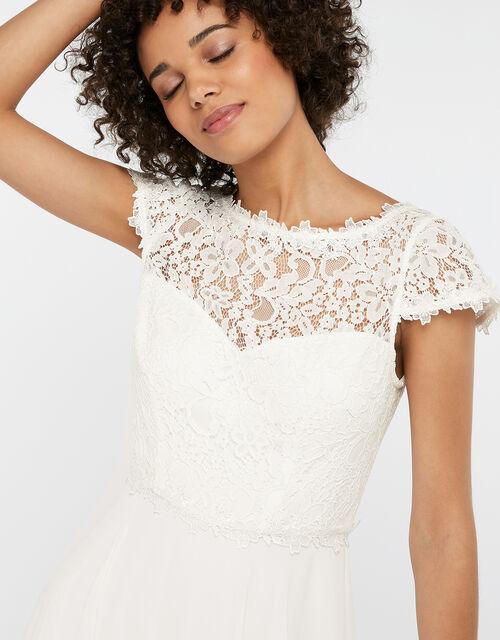 Catherine Lace Maxi Wedding Dress, IVORY, large