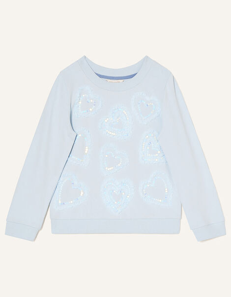 Tulle Heart Sweat Top Blue, Blue (BLUE), large