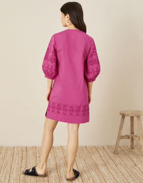 ARTISAN STUDIO Embroidered Kaftan Dress Pink, Pink (PINK), large