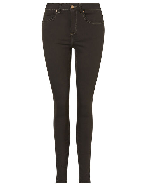 Nadine Regular Length Jeans with Organic Cotton, Brown (CHOCOLATE), large