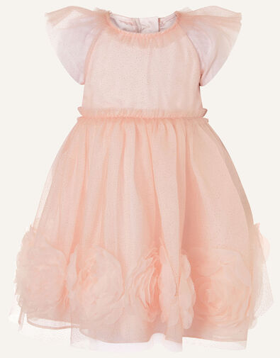 Baby 3D Glitter Rose Dress Pink, Pink (PINK), large