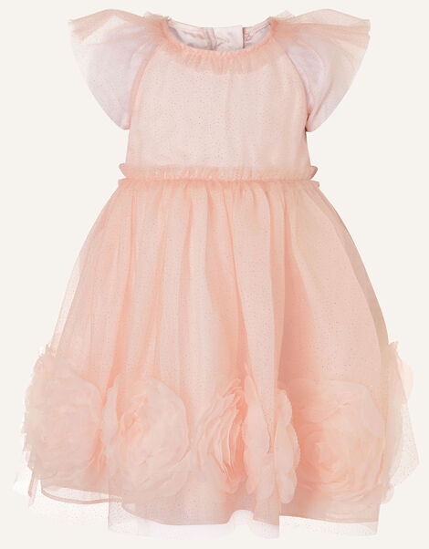 Baby 3D Glitter Rose Dress Pink, Pink (PINK), large