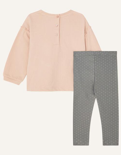 Baby Animal Motif Jersey Set, Pink (PINK), large
