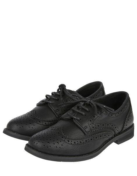 Brogue Shoes Black, Black (BLACK), large