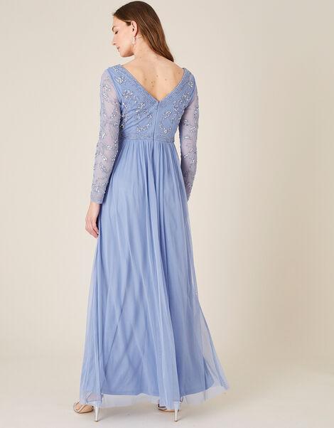 ARTISAN Leela Embroidered Maxi Dress  Blue, Blue (BLUE), large