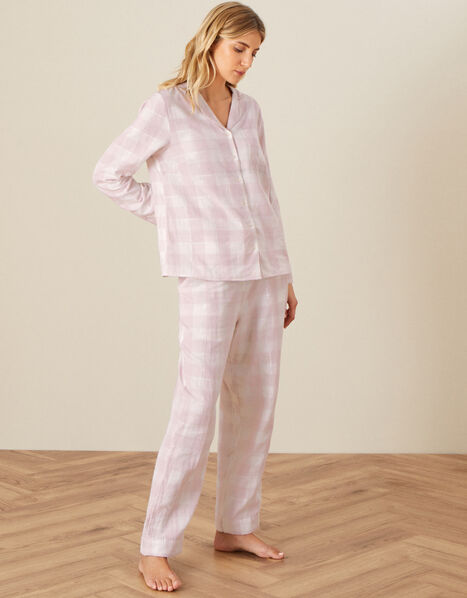 Relaxed Checked Shirt Pink, Pink (BLUSH), large