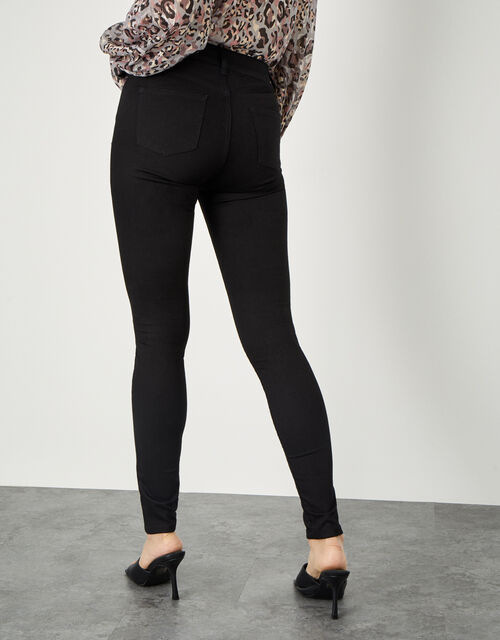 Nadine Sparkle Regular Length Jeans with Organic Cotton, Black (BLACK), large
