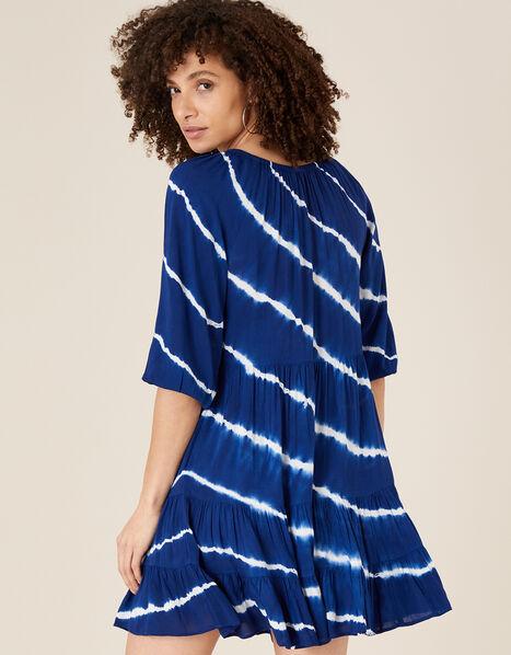 Tie-Dye Tunic Dress in LENZING™ ECOVERO™ Blue, Blue (NAVY), large