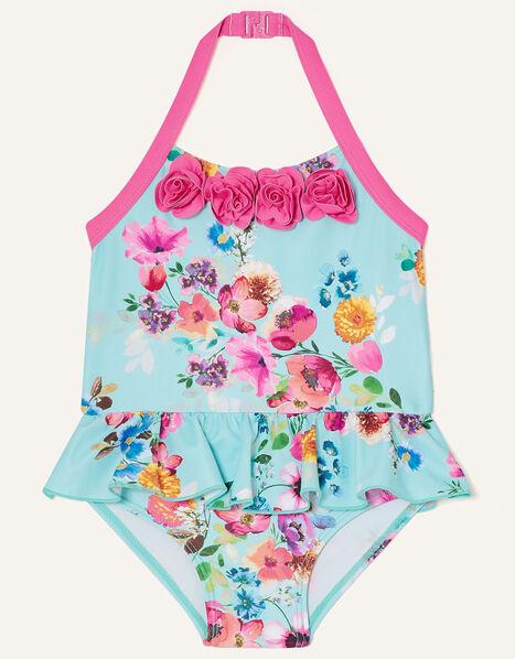 Baby Josie Frill Floral Swimsuit Multi, Multi (MULTI), large