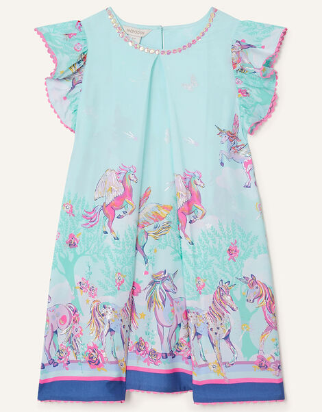 Unicorn Sparkle Swing Dress  Blue, Blue (AQUA), large