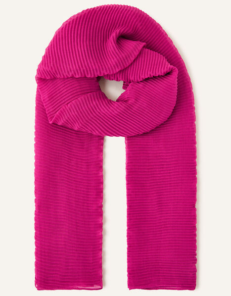 Pleated Occasion Scarf, , large