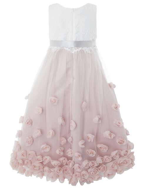 Ianthe 3D Flower Dress, Pink (DUSKY PINK), large