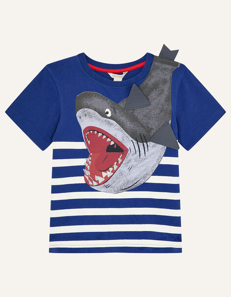 Shark T-Shirt Blue, Blue (BLUE), large