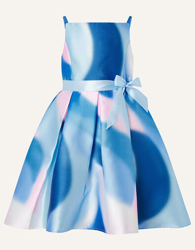 Mermaid Marble Hi-Low Dress Blue, Blue (BLUE), large