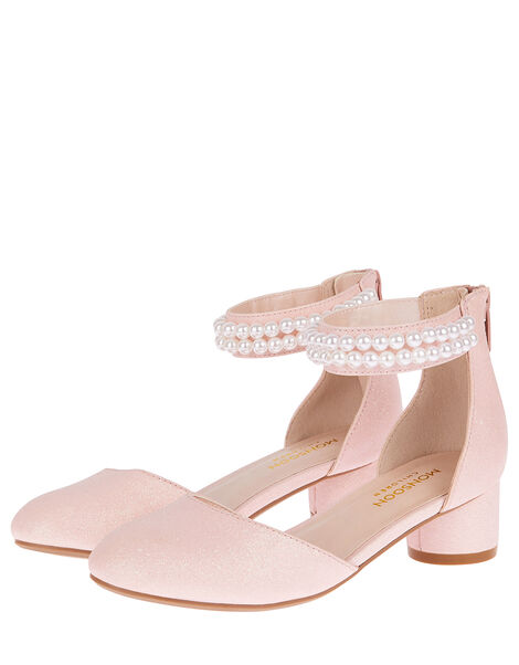 Sweet Petal Pearl Strap Shoes Pink, Pink (PINK), large