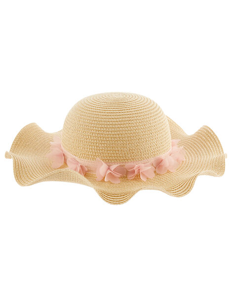 Macaroon Butterfly Floppy Hat  Natural, Natural (NATURAL), large