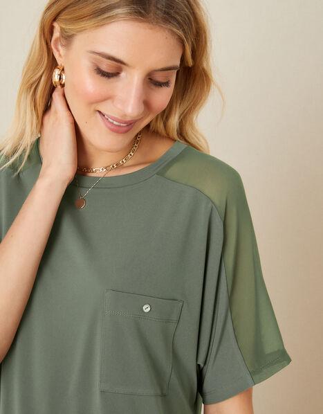 LOUNGE Kimberley T-Shirt Green, Green (KHAKI), large