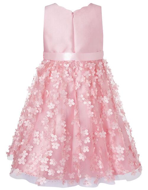3D Flower Dress, Pink (DUSKY PINK), large