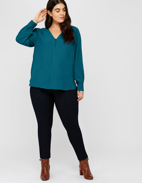Tiffany Blouse, Teal, large