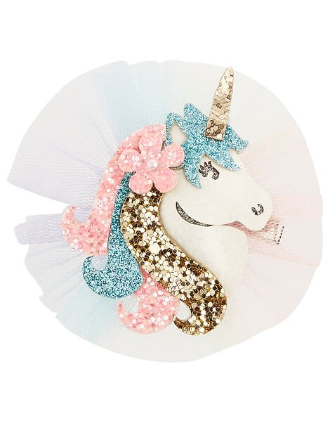 Dreamy Unicorn Glitter Hair Clip, , large