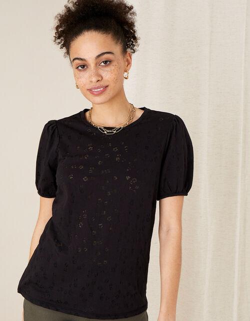 Petunia Animal Jersey T-Shirt, Black (BLACK), large