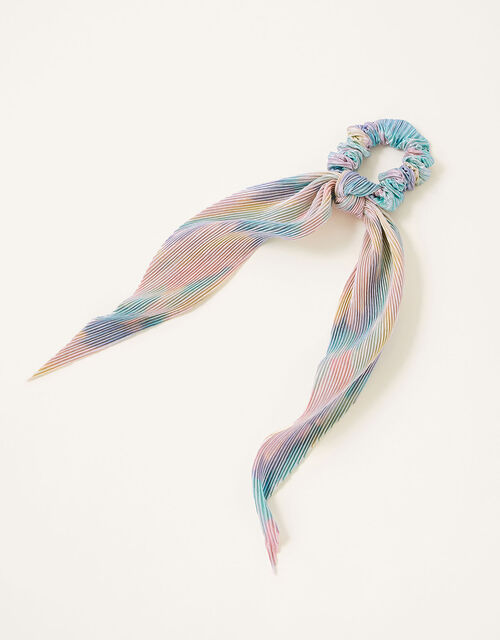 Shimmer Rainbow Tie Scrunchie, , large