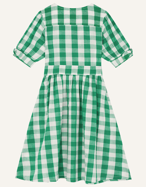 MINI ME Amina Gingham Dress, Green (GREEN), large