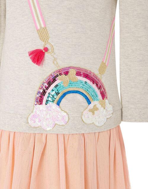 Rainbow Bag 2-in-1 Sweat Dress, Camel (OATMEAL), large