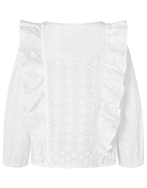 Alison Broderie Lace Kimono with Cami Top, Ivory (IVORY), large