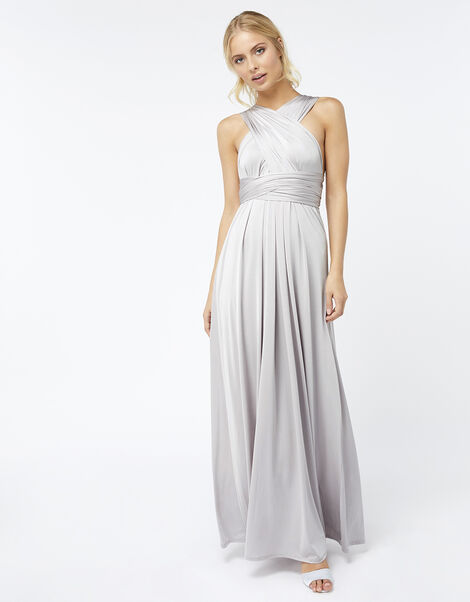Monsoon- Multiway Maxi Dress  Silver, Silver (SILVER), large