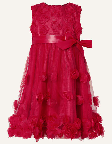 Baby 3D Rose Dress Red, Red (RED), large