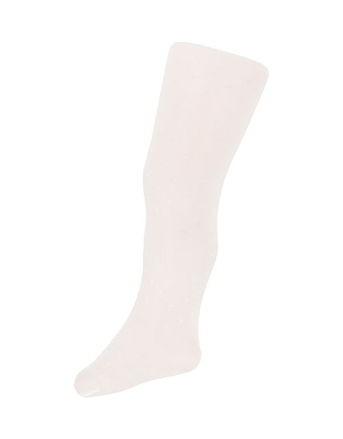 Baby Bridal Spot Tights, White (WHITE), large