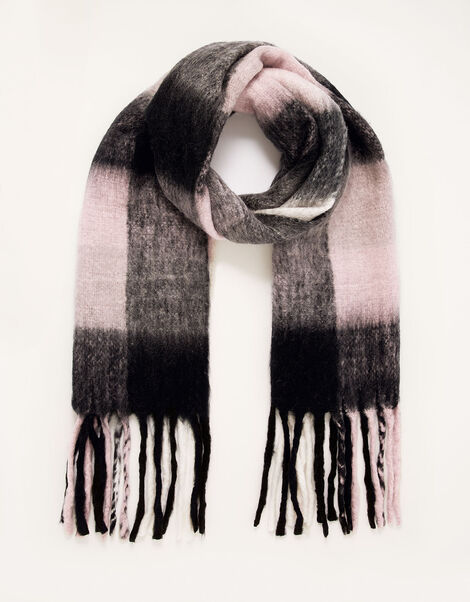 Charley Check Blanket Scarf, , large