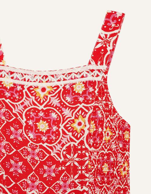 MINI ME Ebony Printed Sundress, Red (RED), large