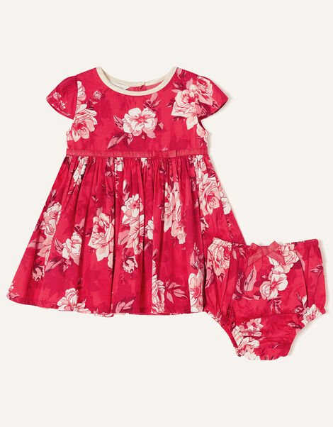 Newborn Floral and Briefs Dress Red, Red (RED), large