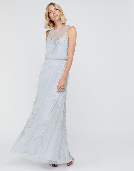 Bella Embellished Maxi Dress Blue, Blue (BLUE), large