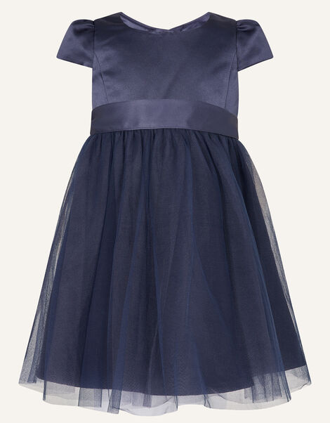 Baby Tulle Skirt Bridesmaid Dress Blue, Blue (NAVY), large