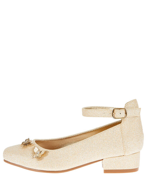 Eugena Butterfly Jive Heeled Shoes, Gold (GOLD), large