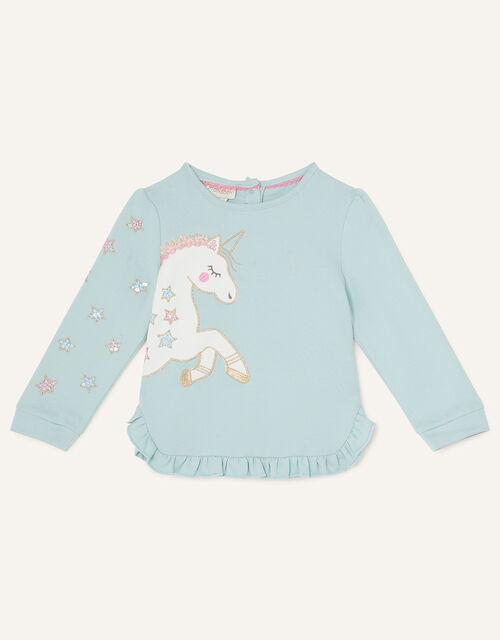 Baby Unicorn Sweatshirt and Leggings, Blue (BLUE), large