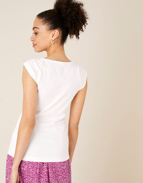 Clara Square Neck Vest, Ivory (IVORY), large