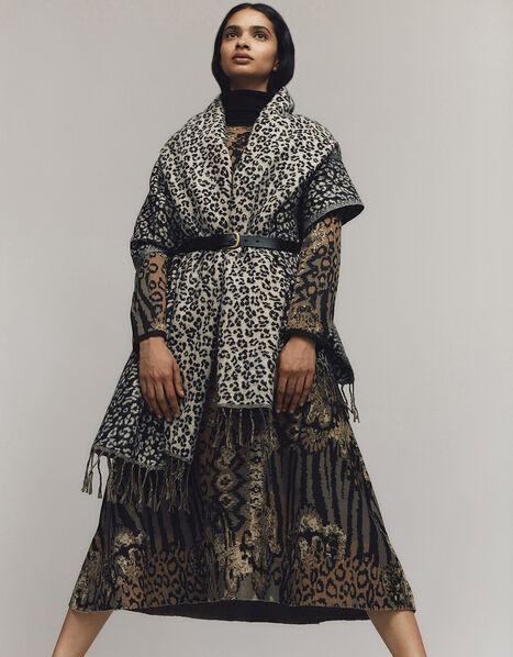 Mixed Print Jacquard Dress Black, Black (BLACK), large
