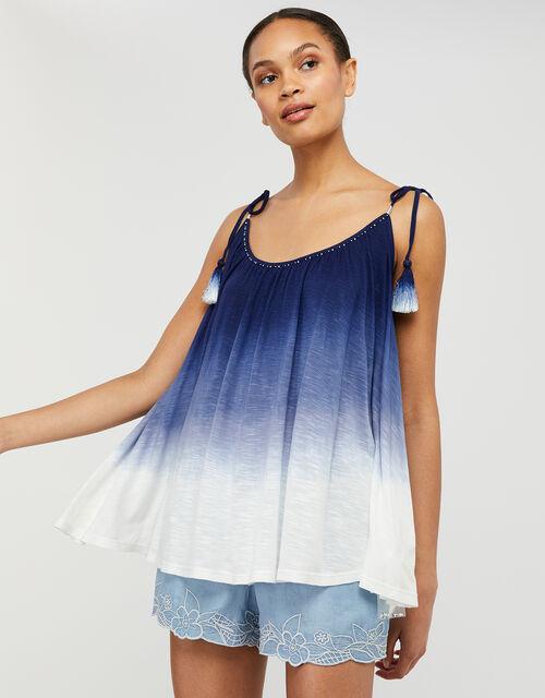 Amelia Dip-Dye Cami in LENZING™ ECOVERO™, Blue (BLUE), large