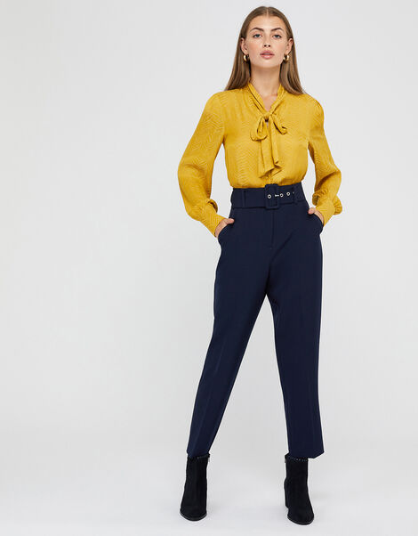 Erica Tapered Leg Trousers Blue, Blue (NAVY), large