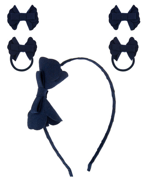 Bow School Hair Accessory Set, , large