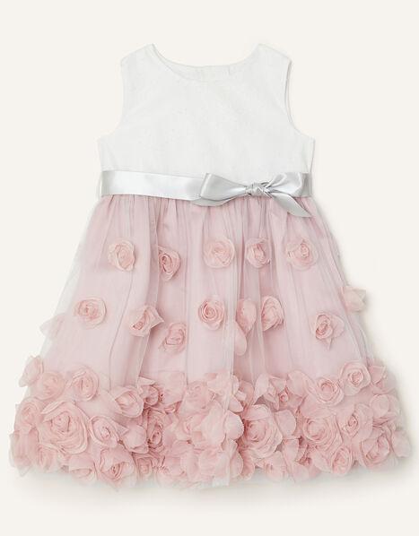 Baby Ianthe Dress Pink, Pink (DUSKY PINK), large