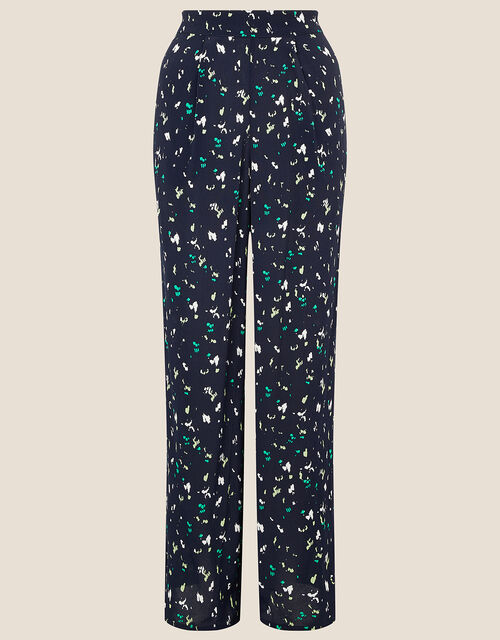 Tracy Printed Smart Trousers, Blue (NAVY), large