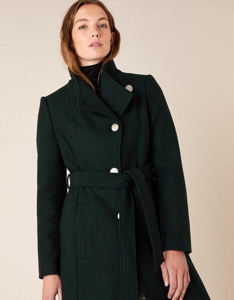Ruby Long Coat Green, Green (GREEN), large