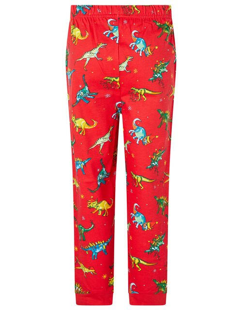 XMAS Dinosaur Pyjama Set, Red (RED), large